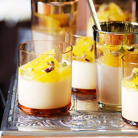 Australian - Honey and cardamom panna cotta w. oranges