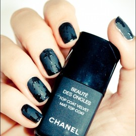 CHANEL - how to splatter/Nails.