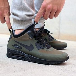 NIKE - NIKE AIR MAX 90 MID WINTER DARK LODEN/BLACK-DARK GREY