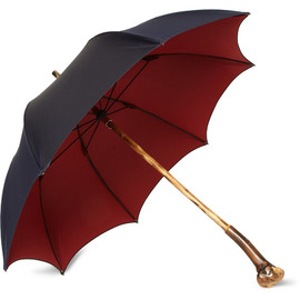 FRANCESCO MAGLIA - LORD CHESTNUT KNOT WOOD HANDLE UMBRELLA