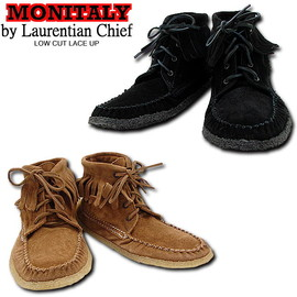 MONITALY, Laurentian Chief - LOW CUT LACE UP フリンジモカシンブーツ