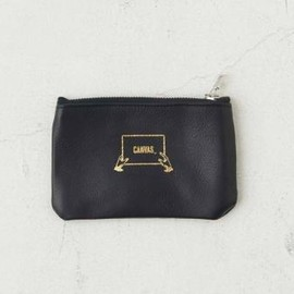 """ CANVAS "" - LEATHER + PVC Fabric Pouch "" S """