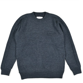 nanamica - THERMOLITE Wool Crew Neck Sweater-Charcoal