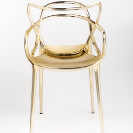 Kartell - Masters Chair, in gold glossy finish by Philippe Starck, Eugeni Quitllet for Kartell