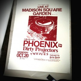 PHOENIX - Live at Madison Square Garden Silk Screen Poster limited 10 editions