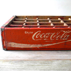 WhiteDogVintage - 〔 Coca Cola wooden crate 〕