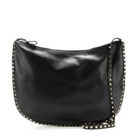 VALENTINO - Rockstud Hobo leather shoulder bag