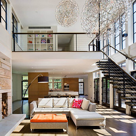 Beautiful and bright living area - Beautiful and bright living area in a house in Dutchess County, New York.