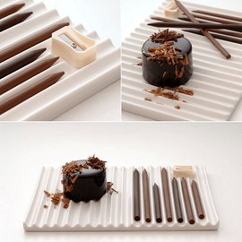 nendo - Chocolate Pencils