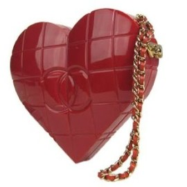 CHANEL - red heart handbag