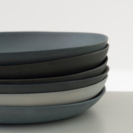 GoldenBiscotti - Plates porcelain gray set