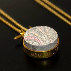 mint - Pressed Newspaper Necklace