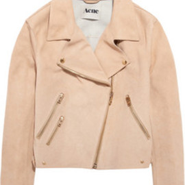 Acne - Rita suede aviator jacket