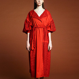 muller of yoshiokubo - geometric lase gown dress