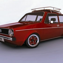 VW - GOLF MK1 WITH ROOF RACK