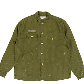 Porter Classic - Hand Work Military Shirt Jacket-Olive