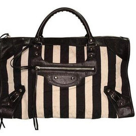 BALENCIAGA - Striped City Bag