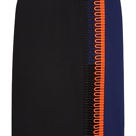Christopher Kane - Crochet-trimmed crepe skirt