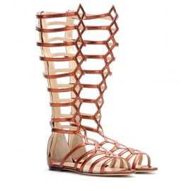 Charlotte Olympia - Maya metallic leather gladiator sandals