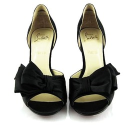 Christian Louboutin - Black Bow Satin D'Orsay