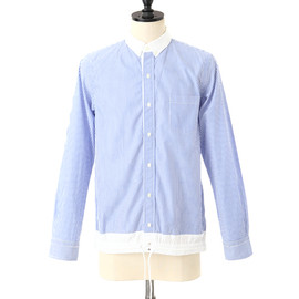 sacai - BLUE STRIPE BUTTON-DOWN SHIRT