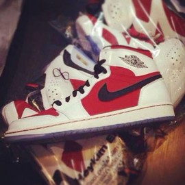 Nike - NIKE AIR JORDAN 1 RETRO HIGH OG WHITE/BLACK-CARMINE