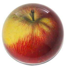 John Derian - RED APPLE GLASS DOME PAPERWEIGHT