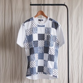 COMME des GARCONS HOMME - 綿天竺ペイズリー柄パッチワークT-Shirt #white