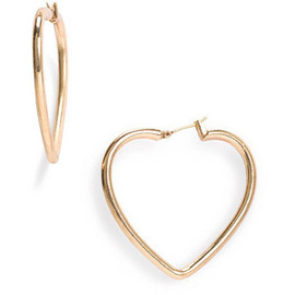 Marc by Marc Jacobs - Love Edge Heart Hoops