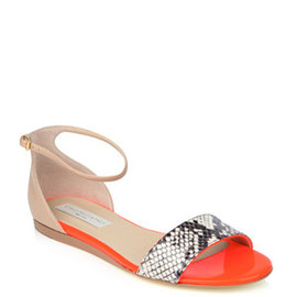 STELLA McCARTNEY - FAUX PYTHON AND NEON SANDALS