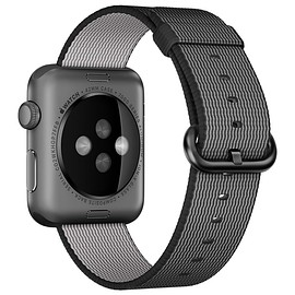 Apple - 42mm Space Grey Aluminium Case with Black Woven Nylon