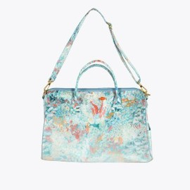 TSUMORI CHISATO - Off-blue sea flowers bowling bag