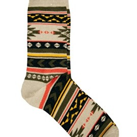 asos - Image 1 of ASOS Aztec Pattern Socks