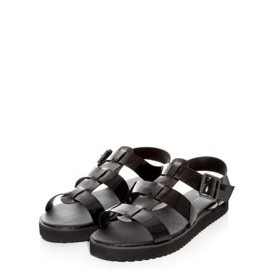 new look - Black Chunky Flatform Gladiator Sandals
