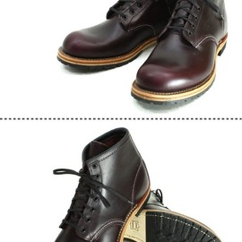 RED WING - Round-Toe Beckman Boots 9011 Black Cherry FeatherStone
