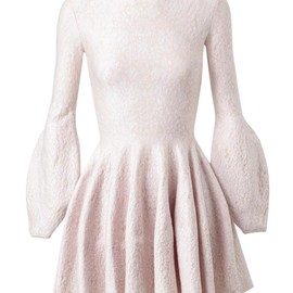 Alexander McQueen - FLORAL BROCADE SILK-WOOL KNIT DRESS