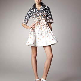 RED Valentino - Floral-Print Tie Coat