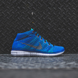 Nike - NIKE Free Flyknit Chukka - Game Royal / Atomic Teal / Wolf Grey