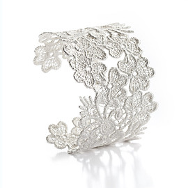 Silver Lace Border Rings Size 7