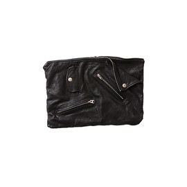 beautiful people - shrink leather clutch bag