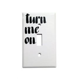 BARON VON FANCY - BARON VON FANCY WHITE METAL LIGHT SWITCH COVER