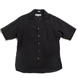 INDIVIDUALIZED SHIRTS - Athletic Fit Camp Collar Shirts S/S-Black