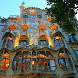 Barcelona,spain - Gaudi Building, Il Battlo.