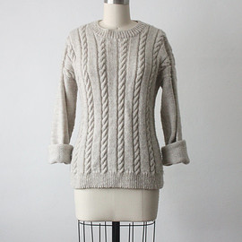vintage - northwest sweater / vintage cable knit sweater