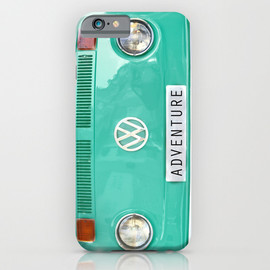 Adventure wolkswagen. Summer dreams. Green iPhone & iPod Case