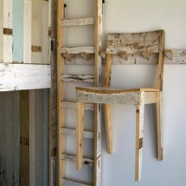 PIET HEIN EEK - Scrap wood Ladder & Chair
