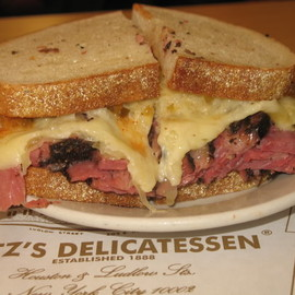 Katz's Delicatessen - corned beef sandwich
