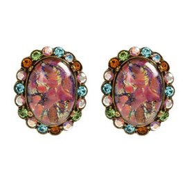 BEN-AMUN - Spice Oval Button Earrings