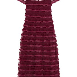 REDValentino - Lace-trimmed point d'esprit tulle dress