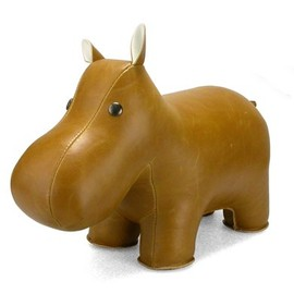 Zuny - Zuny Classic Series Hippo Cream Animal Bookend